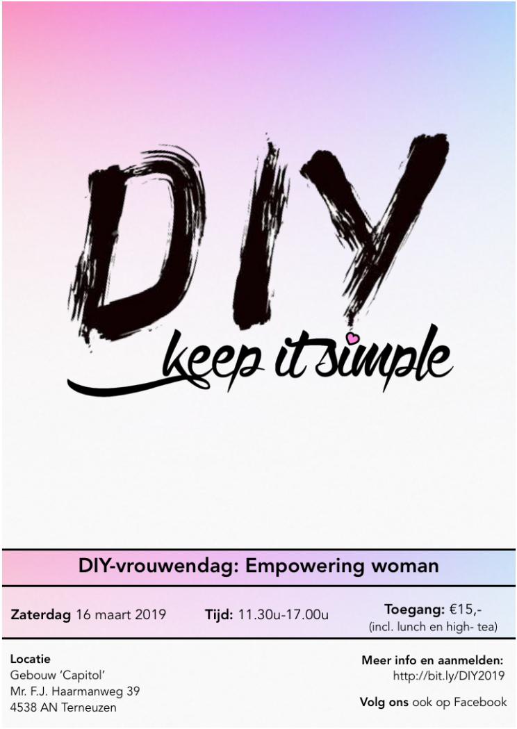 Flyer vrouwendag DIY-Keep it Simple 2019